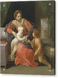 Madonna And Child With Saint John The Baptist Acrylic Print by Guido Reni
