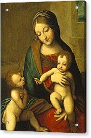 Madonna And Child With The Infant Saint John Acrylic Print by Antonio Allegri Correggio