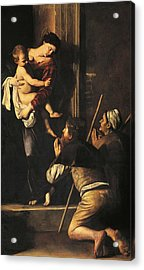 Madonna Dei Pellegrini Or Madonna Of Loreto Acrylic Print by Michelangelo Merisi da Caravaggio