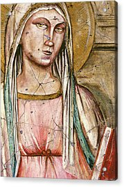 Madonna Del Parto - Study No. 1 Acrylic Print by Steve Bogdanoff