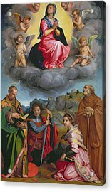 Madonna In Glory With Four Saints Acrylic Print by Andrea del Sarto