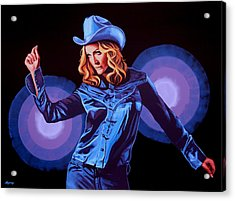 Madonna Painting Acrylic Print by Paul Meijering