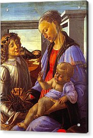 Madonna With Child Acrylic Print by Vintage Christmas Card