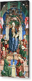 Madonna With The Child Enthroned  Acrylic Print by Cosme Tura