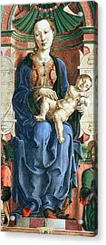 Madonna With The Child Enthroned Detail Acrylic Print by Cosme Tura