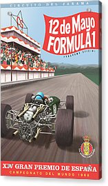 Madrid Grand Prix 1968 Acrylic Print by Georgia Fowler