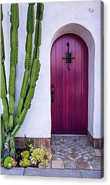 Magenta Door Acrylic Print by Thomas Hall Photography