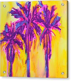 Magenta Palm Trees Acrylic Print by Patricia Awapara