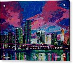 Magic City Acrylic Print by Maria Arango