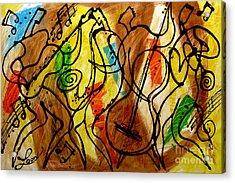 Magic Jazz 2 Acrylic Print by Leon Zernitsky