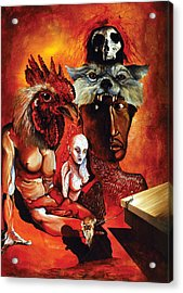 Magic Poultry Acrylic Print by Otto Rapp