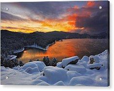 Magic Sunset Acrylic Print by Kadek Susanto