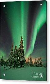 Magic Winter Night Acrylic Print by Priska Wettstein