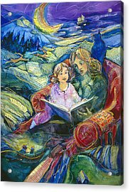 Magical Storybook Acrylic Print by Jen Norton