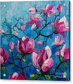 Magnolias For Ever Acrylic Print by Mona Edulesco