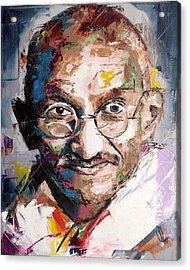 Mahatma Gandhi Acrylic Print by Richard Day