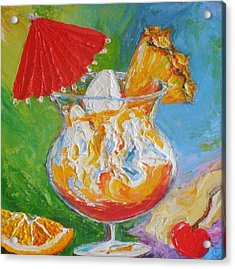 Mai Tai Mixed Drink Acrylic Print by Paris Wyatt Llanso