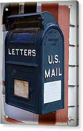 Mail Box At The Post Office Acrylic Print by Ken Smith