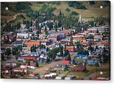 Main Street Silverton Colorado Acrylic Print by Darren  White