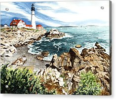 Maine Attraction Acrylic Print by Barbara Jewell