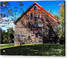 Maine Barn Acrylic Print by Marcia L Jones