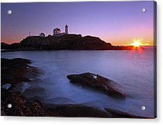 Maine Cape Neddick Nubble Lighthouse Acrylic Print by Juergen Roth