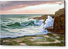 Maine Coast Morning Acrylic Print by Paul Krapf