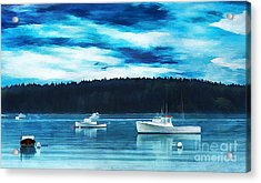 Maine Harbor Acrylic Print by Darren Fisher