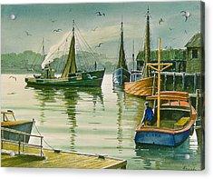 Maine Harbor Acrylic Print by Paul Krapf