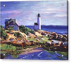 Maine Lighthouse Acrylic Print by David Lloyd Glover