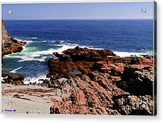 Maine Seascape Acrylic Print by Kathleen Struckle