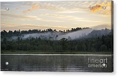 Maine Sunrise Acrylic Print by Steven Ralser