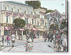 Mainstreet Anytown Usa Acrylic Print by Jeff Kemper