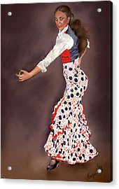 Maite Acrylic Print by Margaret Merry