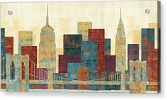 Majestic City Acrylic Print by Michael Mullan