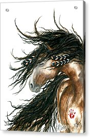 Majestic Pinto Horse 80 Acrylic Print by AmyLyn Bihrle