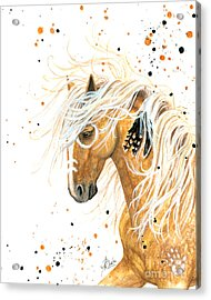 Majestic Palomino Horse 84 Acrylic Print by AmyLyn Bihrle