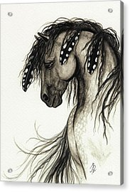 Majestic Mustang Horse Series #51 Acrylic Print by AmyLyn Bihrle