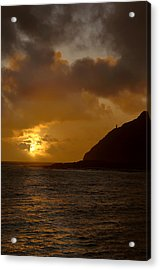 Makapuu Point Lighthouse Sunrise Acrylic Print by Brian Harig