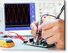 Making An Electronic Micro Processor Acrylic Print by Wladimir Bulgar