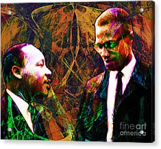 Malcolm And The King 20140205 Acrylic Print by Wingsdomain Art and Photography