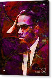 Malcolm X 20140105m28 Acrylic Print by Wingsdomain Art and Photography