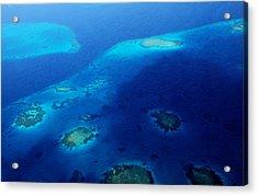 Maldivian Reefs. Aerial Journey Over Maldivian Archipelago Acrylic Print by Jenny Rainbow