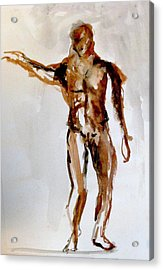 Male Figure Acrylic Print by James Gallagher