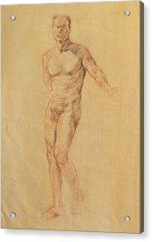 Male Nude 2 Acrylic Print by Becky Kim