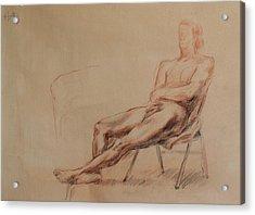Male Nude 4 Acrylic Print by Becky Kim