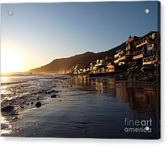 Malibu Topanga Sunset Acrylic Print by Trekkerimages Photography