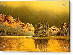 Maligne Lake Acrylic Print by Conrad Mieschke