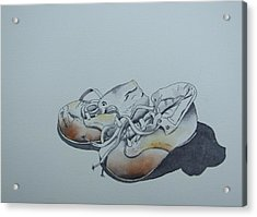 Mama's First Shoes-cira1930 Acrylic Print by Ramona Kraemer-Dobson