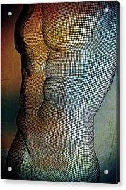 Man Body Acrylic Print by Mark Ashkenazi
